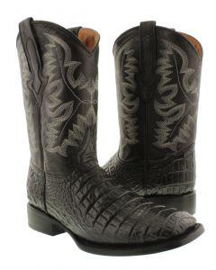 Men's Exotic Crocodile Belly Cut Cowboy Boots Western Wear Square Toe