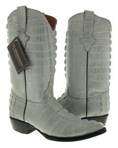 Men's Gray Full Alligator Tail Design Western Cowboy Boots J Toe