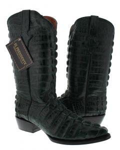 Men's Green Full Alligator Tail Design Western Cowboy Boots J Toe