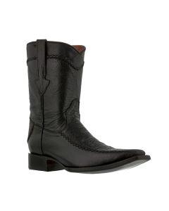 Men's Black Rockerz Sea Turtle Exotic Leather Western Cowboy Boots Square Toe