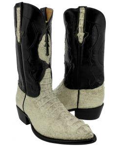 Men's Natural All Real Crocodile Skin Head Cut Cowboy Boots J Toe - BD1