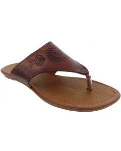 Women's Boho Flip Flops Leather Huaraches Mexican Sandals Hand Woven